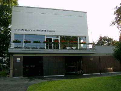 Unser Clubhaus, vom Stresemann-Ufer aus gesehen
